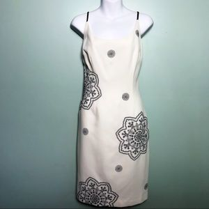 NWT Maggie London Embroidered Sheath Dress
